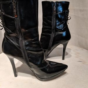 Guess heeled booties with corset detail